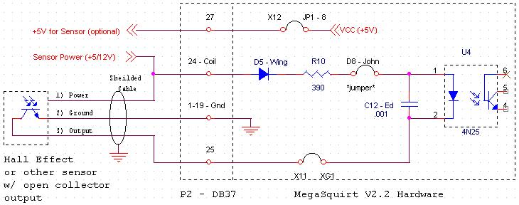 megaspark 5v for sensor hall effects have an internal regulator and accept power from 5 30v but considering the noisy